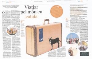 Viatjar en català diari Ara agost 2011